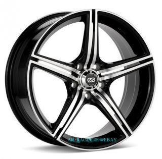 18 Enkei Rims STR5 Black RSX Maxima Camry Mazda3 IS250