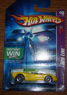 2007 Hot Wheels Redline Yellow Ford GT 40 New on Card