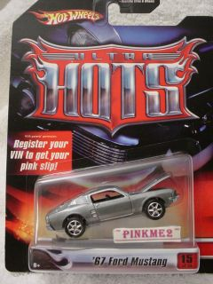 2007 Pink Hot Wheels Ultra Hots 67 Ford Mustang 1967 ★gray★real