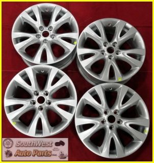 10 11 12 Ford Taurus 18 Silver Take Off Wheels Factory Rims Set 3817