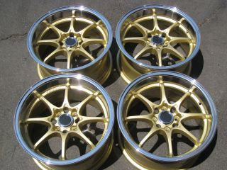 Civic   GOLD w/ ML Wheels TIRES Civic Fit CRX Acura Integra Miata RIMS