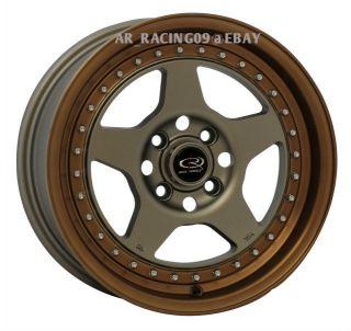 15 Rota Rims Kyusha 15x7 4x100 Integra CRX Fit Del Sol Mini Cooper XB