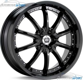 20x8 5 Enkei LF 10 5x120 40mm Black Rims Wheels inch 20