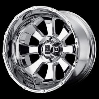 20 x 12 XD779 Armour 8x6 5 Silverado Avalanche H2 Chrome Wheels Rims