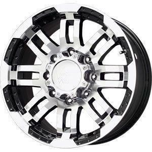 New 16x8 5x135 Vision Warrior Black Wheels Rims