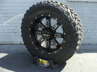 20 Gear Alloy 725MB Wheels 35x12 50R20 35 Toyo Open Country MT Tires
