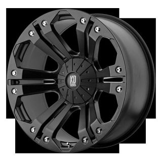 18 XD XD778 Monster Matte Black Rims Nitto Trail Grappler Tires 35x12
