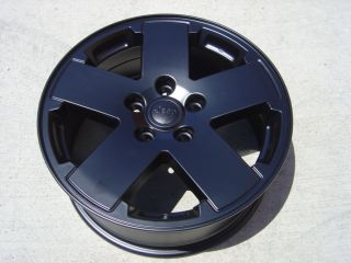 WHEELS 18 POWDERCOATED BLACK JEEP WRANGLER RUBICON JK SAHARA 4X4 07 13