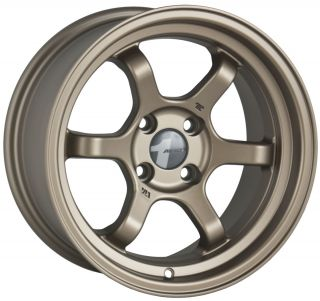 15 AVID1 AV11 BRONZE RIMS WHEELS 15x7.5 +12 4x100 SCION XB MAZDA MIATA