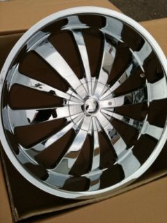 24 Chrome Rims 5x127 135 Tires Chevy Ford GMC F150