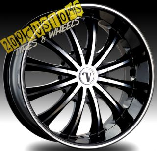 22 inch Wheels Rims Tires VW15 5x115 5x120 13 Offset 22x9 5 Dodge