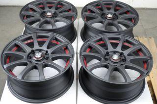 15 4x100 4x114 3 Matte Black Effect Wheels Yaris MR2 Civic Xb Cooper 4
