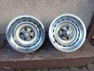 Rare Pair Chrysler 300 Hurst Mopar Rallye Rally Wheels 15x6 Caps Rims