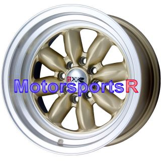 15 15x8 XXR 513 Gold Rims Wheels Deep Dish Lip 4x4 5 87 Toyota Corolla