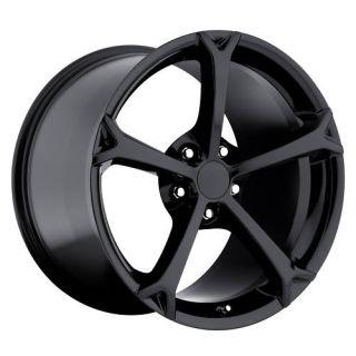 2009 C6 Grandsport Gloss Black ZO6 Z06 Corvette ZR1 Wheels Rims