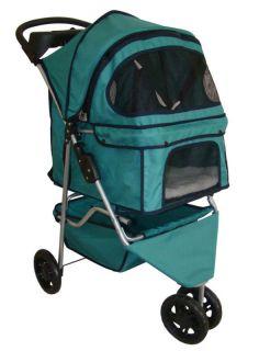 BestPet 3 Wheels Pet Dog Cat Stroller 13 Color Choices Free Raincover