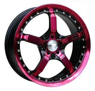 17 HD Tuning Cooldown Wheels Pink Rim Mustang Civic Caliber Fusion
