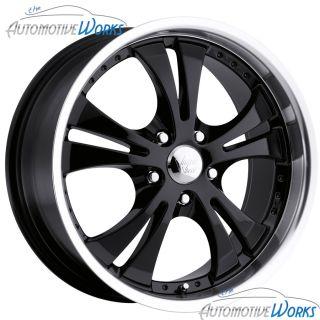 17x7 Vision Shockwave 5x115 42mm Black Wheels Rims inch 17