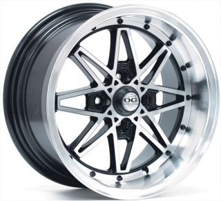 15 OG Axis Old Skool style Black Wheels Rims Fit Honda FIT Accord 1982