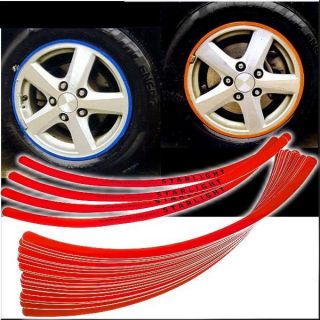 WHEELS RIMS DECORATION DECALS STICKER RED TRIM 19 inch WHEELS RIMS