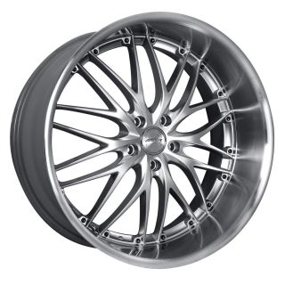20 MRR GT1 Silver Rims Wheels Tires Nissan 350Z G35 Coupe Mustang