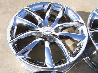 07 08 09 Infiniti G35 17 Chrome Alloy Wheels Rims 5x4 5 10 Spoke