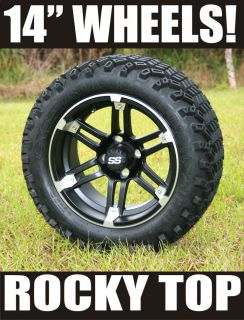 Lift Kit 14X7 Barracuda Golf Cart Wheels and 23 A T Tires