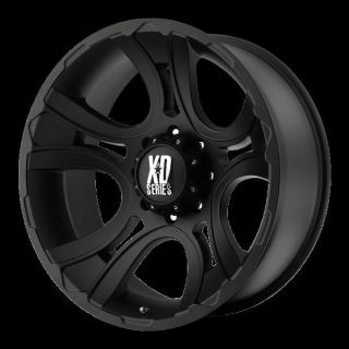 17 inch Black Wheels rims KMC XD 801 FORD F250 350 superduty 8 lug