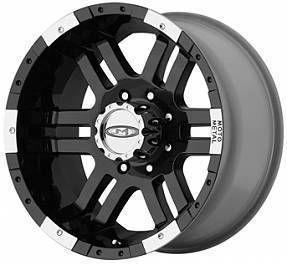 16 Inch BLACK MO951 WHEELS 8 Lug Rims Chevy 2500 Dodge GMC Truck Moto