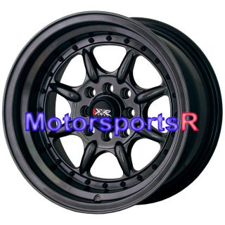 16 16x8 XXR 002 Chromium Black Wheels Rims Deep Dish 4x100 Stance 84