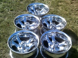 87 06 5 American Racing Ventura 15 Wheels Chrome Alloy Rims