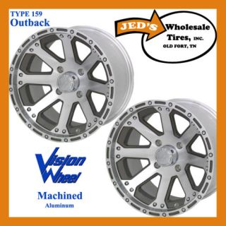 12 12x8 4x4 Alum Golf Cart Rims Wheel 2 Backspace