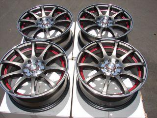 15 4x100 4x114 3 Gun Metal Effect Wheels Tiburon Accord Miata Jetta