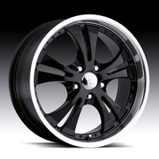 15 inch 5x4 5 Black Machined Vision Shockwave Wheels Rims 15x6 5 38