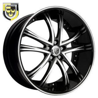 Wheels LSS 55 Black Rims Range Rover Armada QX56 Escalade GMC 22 24