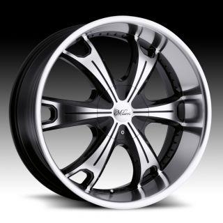 17 inch Milanni Stellar Black Wheels Rims 5x115 18