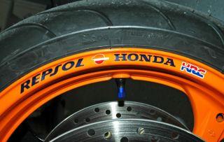 Repsol Honda Wheel Rim Stickers Fireblade CBR VTR VFR