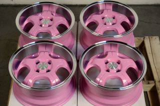 Pink Low Offset 25 4 Lug Wheels Rio 5 Accent Aveo Cobalt Protege Rims