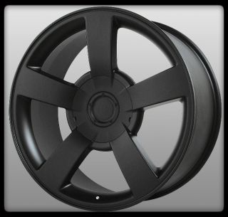 WHEEL REPLICAS V1130 SILVERADO SS MATTE BLACK SIERRA YUKON WHEELS RIMS