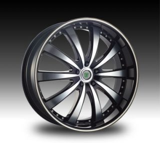 20 22 24 Phino 168 Wheels Black Lexani Cadillac cts DTS STS DeVille