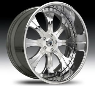 24 asanti AF131 Chrome Wheels Rims 3 Piece