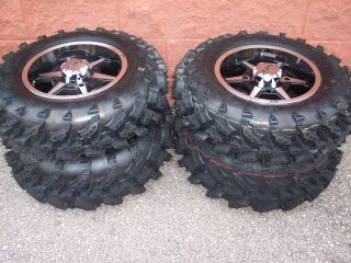 27 Yamaha Rhino Swamp Lite ATV Tire 14 B6 Wheel Kit Complete
