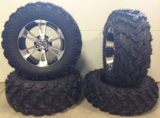 ITP SS112 14 Wheels Machined 27 Reptile Tires Honda Rincon Rubicon 4