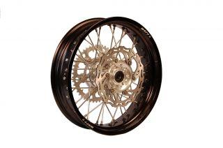 ES s WARP9 Supermoto 17 Wheels 4 25 Rear Black Rim Motard Bo