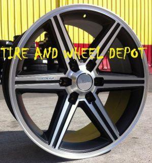 24 inch Black IROC Rims Wheels and Tires Tahoe Z71 Yukon Avalanche