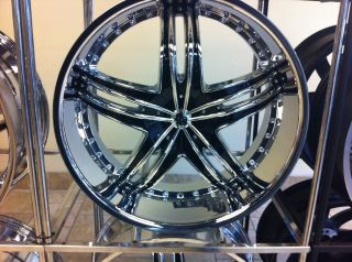 PRICE REDUCED 4 New 24 Inch Gianna Envy Wheels Chrome Black 24x10 rims