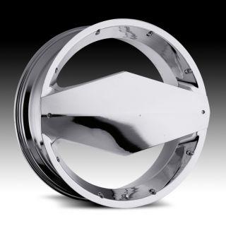 26 inch Vision Morgana Chrome Wheels Rims 6x135 30
