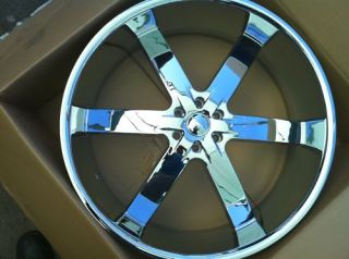 28 U2 55 Chrome Wheels Only 6x139 Chevy GMC Titan