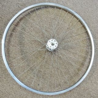 27x1 1 4 Schwinn Front Road Bike Wheel Tubular Rim Large Flange