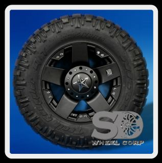 18 Wheels Rims XD Rockstar Matte Black with 295 70 18 Nitto Trail